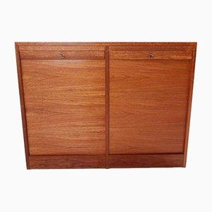 Vintage Teak Double Filing Cabinet
