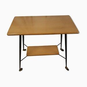 Table à 2 Niveaux Vintage avec Roulettes