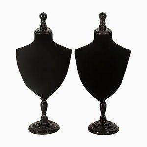 Bustes de Mannequin pour Bijoux, France, 19ème Siècle, Set de 2
