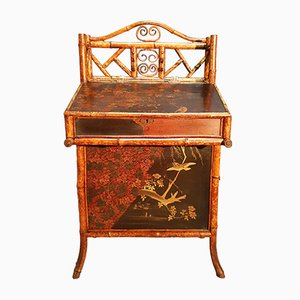 Antique Lacquered Bamboo Davenport Desk