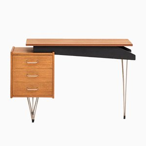 Dutch Desk with Hairpin Legs by Cees Braakman for Pastoe, 1950s