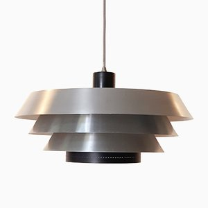Lámpara colgante de Bent Karlby para Lyfa, años 60