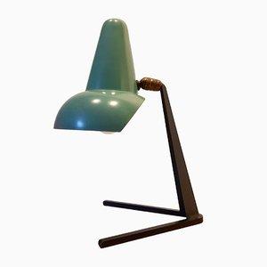Lámpara de escritorio francesa moderna de metal, años 50