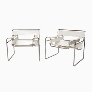Vintage Model Wassily Armchairs by Marcel Breuer, Set of 2
