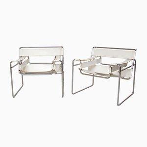 Vintage Modell Wassily Sessel von Marcel Breuer, 2er Set