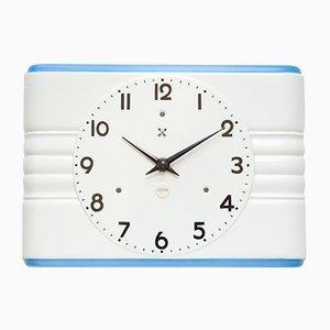 Horloge Murale Art Déco en Céramique de Pfeilkreuz, 1940s