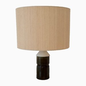 French Bicolored Ceramic Table Lamp, 1970s