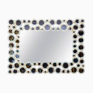 Miroir en Verre de Murano et Verre Opalin, 1980s