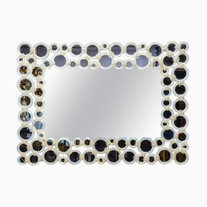 Spiegel aus Murano- & Opalglas, 1980er