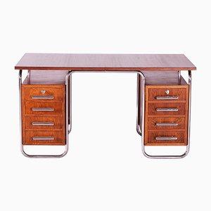 Oak and Chrome Desk by Marcel Breuer for Mücke Melder, 1930s