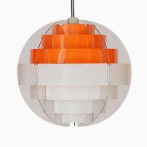 Danish Strips Pendant Lamp by Brylle & Jacobsen for Quality System, 1980s