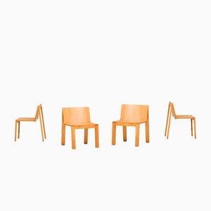 Niederländische SE15 Esszimmerstühle von Pierre Mazairac & Charles Boonzaaijer für Pastoe, 1970er, 4er Set