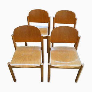 Side Chairs, 1980s, Set of 4