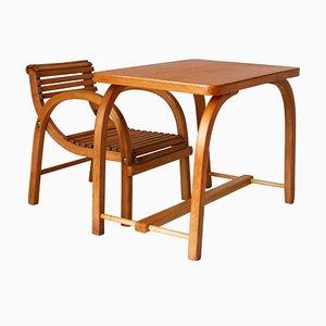 Juego de mesa y silla infantil vintage
