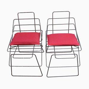 Italienische Sessel, 1980er, 2er Set