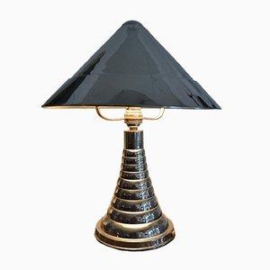 Französische Art Déco Tischlampe aus Chrom, 1930er