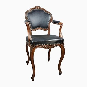19th-Century French Walnut Armchair