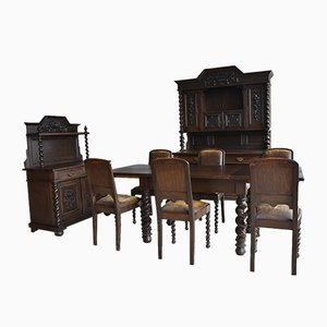 Large Antique Wilhelminian Kitchen Set