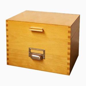 Archivbox aus Holz von Acco, 1960er