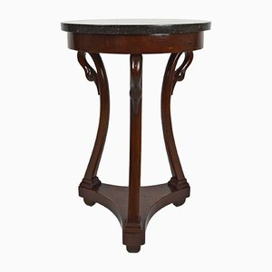 Antique Empire Swan Pedestal Table