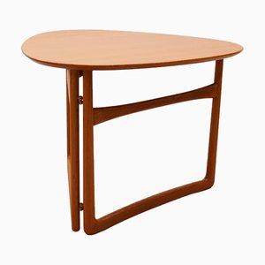 Tavolino pieghevole di Peter Hvidt per France & Søn, anni '50