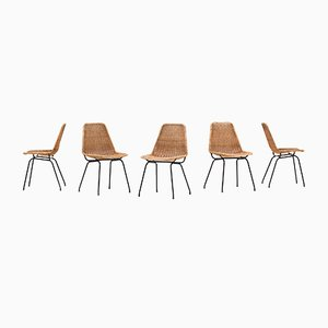 Dutch Model Italia 100 Dining Chairs from Rotanhuis, 1950s, Set of 5