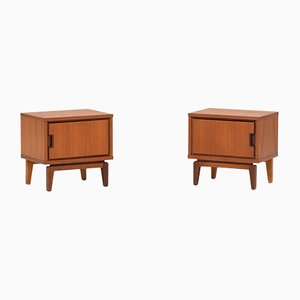 Modernist Dutch Teak Nightstands, 1960s, Set of 2