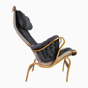 Swedish Pernilla 69 Lounge Chair by Bruno Mathsson for Dux, 1970s