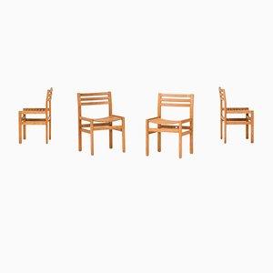 Chaises de Salle à Manger Vintage en Pin, Set de 4