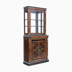 Antique Ebonised Display Cabinet