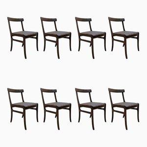Vintage Esszimmerstühle von Ole Wanscher für Poul Jeppesens Møbelfabrik, 8er Set