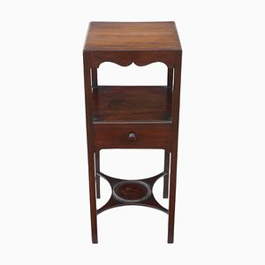 Mahogany Washstand Bedside Table, 1810s