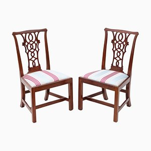 Antique Chippendale Style Mahogany Dining Chairs, Set of 2