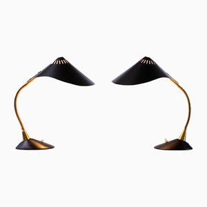 Cobra Rayfish Table Lamps from Cosack, 1950s, Set of 2