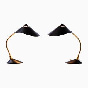 Lámparas de mesa Cobra Rayfish de Cosack, años 50. Juego de 2