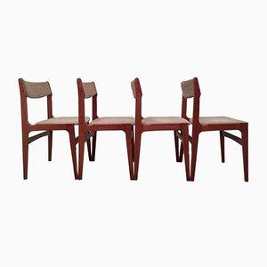 Vintage Esszimmerstühle aus Teak von Erik Buch für O.D. Møbler, 4er Set