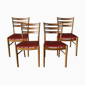Sillas de comedor suecas de teca, años 60. Juego de 4