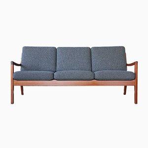 Dänisches Vintage Senator 3-Sitzer Sofa von Ole Wanscher für Peter Jeppesen