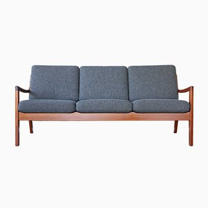 Vintage Danish Senator 3-Seater Sofa by Ole Wanscher for Peter Jeppesen