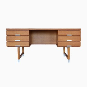 Vintage Schreibtisch aus Eiche von Kai Kristiansen für Feldballes Møbelfabrik, 1960er