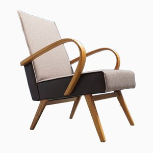 Bentwood Lounge Chair from TON, 1960s