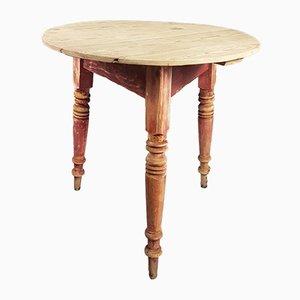 Tavolo vintage in legno di pino, anni '80