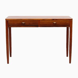 Swedish Rosewood & Brass Console Table, 1960s