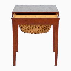 Tavolo da cucito di Severin Hansen per Haslev Møbelsnedkeri, anni '60