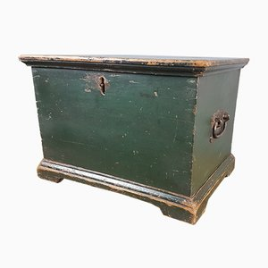 19th-Century Green Painted Box