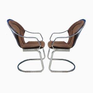 Chaises de Jardin Mid-Century en Chrome, 1970s, Set de 2