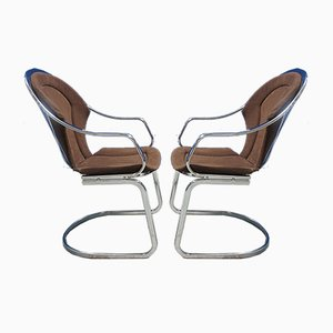 Mid-Century Gartenstühle aus Chrom, 1970er, 2er Set