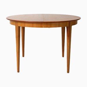 Tavolo da pranzo vintage allungabile in legno di ciliegio di Alma Möbel, anni '60