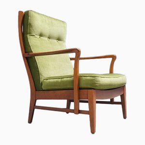 Mid-Century Swedish High Back Lounge Chair, 1960s