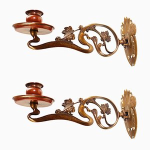 Antique Sconces by Henry van de Velde, Set of 2